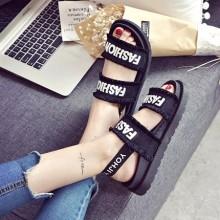 [PRE-ORDER] Women Summer Flat Bottom Velcro Roman Shoes