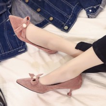 [PRE-ORDER] Women Winter Shoes With Velvet Heels, Cats Shoes