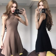 [PRE-ORDER] Women The New Fashion Temperament Sexy Cross Halter Neck Wear