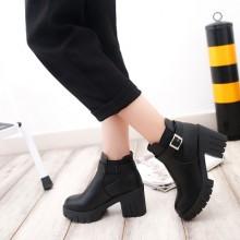 [PRE-ORDER] Women Korean Version of Martin Boots Female High Heels