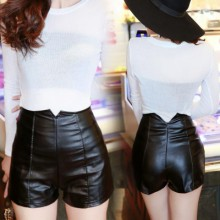 [PRE-ORDER] Women Autumn Sweet Leather Pants