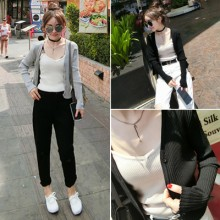 [PRE-ORDER] Women Spring And Summer Long-Sleeved Short Thin Jacket Coat