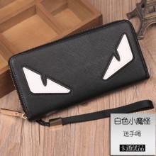 Men Small Monster Wallet Long Zipper Handbag