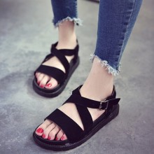 [PRE-ORDER] Women New Lady Summer Students Flat  Sandals