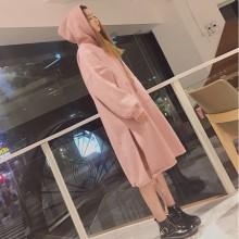 [PRE-ORDER] Women Long Chic Sweater Skirt, Winter New Hooded Plus Velvet  Shirt
