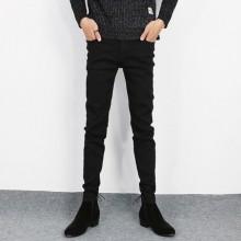[PRE-ORDER] Men Korean Version of The Tide Black Jeans, Thin Skinny Pants
