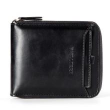 Men Vintage Bit Zipper Multi-Card and Function Driver's License Wallet