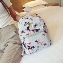 [PRE-ORDER] Spring and Summer New of the Butterfly Daffodil Printing Students Waterproof Small Capacity Backpack Bag