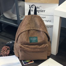 [PRE-ORDER] Autumn and Winter New Student Phone Corduroy Men and Women College Wind Backpack Bag