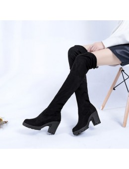 [PRE-ORDER] New Knee Long High Heels Martin Women Thin Legs Stretch with Wild Boots Shoes