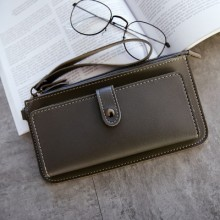 [PRE-ORDER] Women Long Section Simple Small Fresh Slim Multi-function Two Fold Wallet