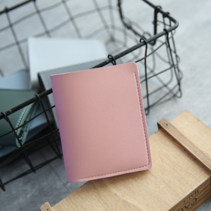 Men Two Fold Simple Study Wild Ultra-Thin Short Wallet Couple Wallet