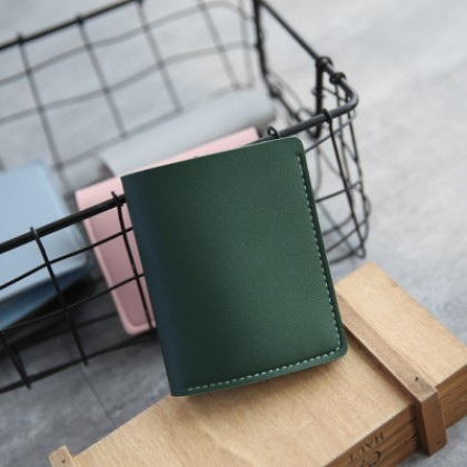 Men Two Fold Simple Study Wild Ultra-Thin Short Wallet Couple Wallet