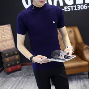 Men Short Sleeve  T-Shirt Trendy Students Half Sleeve Shirt Summer T-Shirt