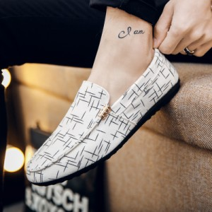[PRE-ORDER] Men's's Peas Shoes Korean Version Of The Trend Wild Lazy Canvas Shoes