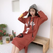 [PRE-ORDER] Women Korean Hooded Cashmere Harajuku Student Sweater Long Jacket