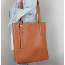 [PRE-ORDER] Women Soft Leather Belt Design Shoulder Tote Bag