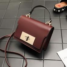 [PRE-ORDER] Women Korean Messenger Retro Lock Small Square Sling Bag