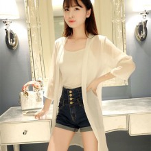 Beach Chiffon Transparent Long Sleeve Jacket