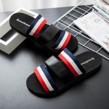 [PRE-ORDER] Men Couple Stripes Summer Slippers Non-slip Sandals Flip-flops