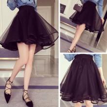 Pure Short Midi Skirts Dress Women Clothing