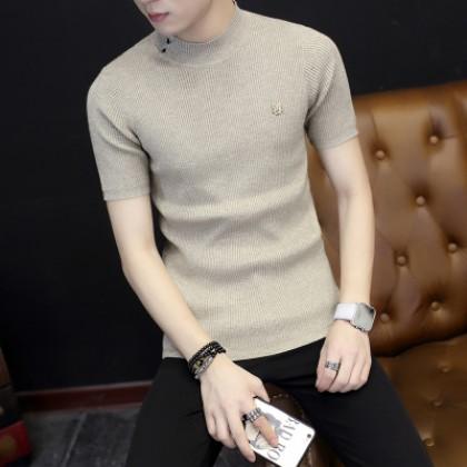 Men's Knitwear Sweater Short Sleeve T-Shirt