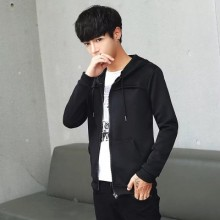 [PRE-ORDER] Men's Casual Plain Pocket Hooded Jacket Cardigan Sweater