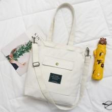 [PRE-ORDER] Women Canvas Zipper High-capacity Shoulder Handbag