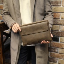[PRE-ORDER] Men Large Capacity Clutch Soft Leather Business Casual Envelope Bag