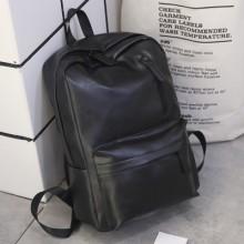 [PRE-ORDER] Men High-capacity Korean PU Soft Leather PC Backpack