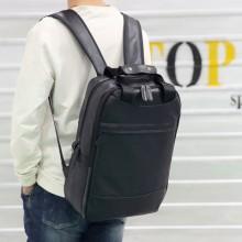 [PRE-ORDER] Men PU Leather Large Portable 17-inch Computer Backpack Bag