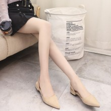 [PRE-ORDER] Women Short Heel Pointy Shallow Mouth Buckle Sandals