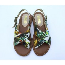 [PRE-ORDER] Women Japanese Flat Simple Cross Straps Sandals