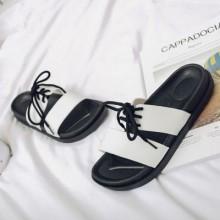 [PRE-ORDER] Men British Beach Lacing Up Simple Couple Sandals