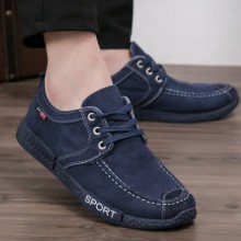 [PRE-ORDER] Men Cloth Canvas Sports Cashmere Warm Cotton Shoes