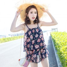 [PRE-ORDER] Women Fashion Print Conservative Cover Belly Swimwear Swimsuit