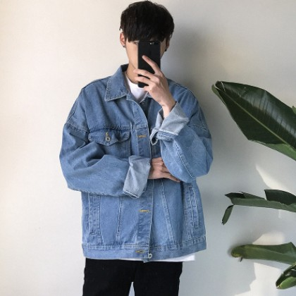Men's Japanese Trend Loose Cowboy Denim Jacket