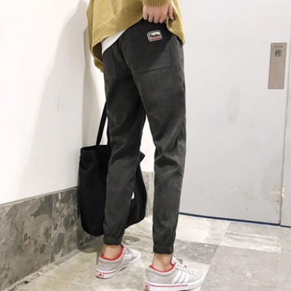 Men's Corduroy Casual Harlan Pocket Long Pants