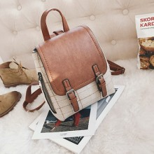 [PRE-ORDER] Women Woolen Simple Retro School College Backpack
