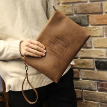 [PRE-ORDER] Men Large-capacity Clutch Envelope Soft Leather Casual Bag