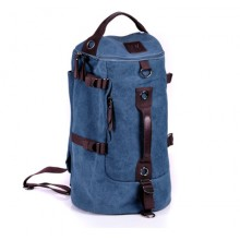 [PRE-ORDER] Men Large-capacity Canvas Travel Cylinder Backpack Bag