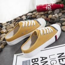 [PRE-ORDER] Women Canvas Convenient Lacing Up Sneaker Shoes