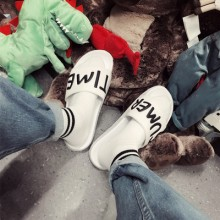 [PRE-ORDER] Men Couple Slipper Korean Letters Trend Men Lovers Sandals