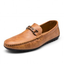 [PRE-ORDER] Men Loafers Tide Casual PU Leather Office Shoes