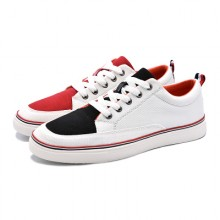 [PRE-ORDER] Men Bicolor Canvas Youth Students Breathable Flat Shoes