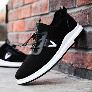 Men Casual Breathable Mesh Elastic Sports Running Shoes