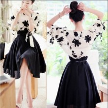 [PRE-ORDER] Women Plus Size XXXL Two Pieces Embroidery Chiffon Long Dress
