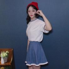 Denim Lace Jeans Denim Mini Skirt