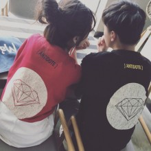 [PRE-ORDER] Men's Couple Women Lovers Diamond Printed Graphic T-Shirt