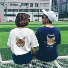Men's Couple Women Lovers Kitty Cat Kitten T-Shirt